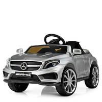 Детский электромобиль Mercedes-Benz M 3995EBLRS-11, кожаное сиденье, серебристый, фото 1