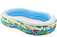 Бассейн детский надувной Intex 56490 Райская Лагуна 262x160 см