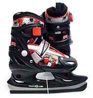 Детские раздвижные коньки PROFI A 5062 S ( размер 30-33) красно-черные