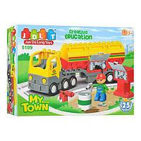 """Конструктор JDLT 5109 (Аналог Lego Duplo) """"Бензовоз"""" 25 деталей"""