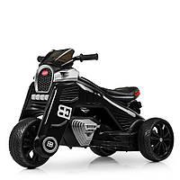 Детский мотоцикл Bambi с кожаным сиденьем M 4113EL-2 черный, фото 1