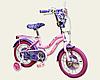 Детский двухколесный велосипед колеса 14 дюймов 191407 Дисней Холодное сердце со звонком розовый