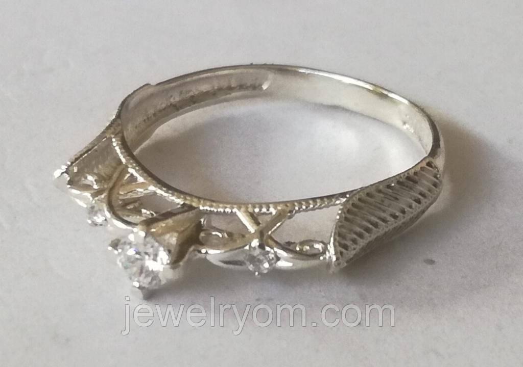 Кільце КБ1695МД, срібло 925 проба, цирконій