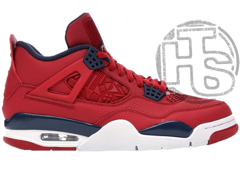 Чоловічі кросівки Air Jordan 4 Retro Fiba (2019) Red CI1184-617