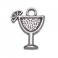 Кулон Бокал, Металл, Цвет: Античное Серебро, Размер: 17x14x2мм, Отверстие 1.5мм, (УТ100008735)