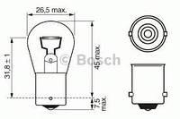Лампа накаливания P21W 12V W-V ВАЗ  2107 , ВАЗ 2108-21099 , ВАЗ 2121 , ВАЗ 2172