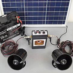 Звуковой отпугиватель птиц «Коршун-8 SOLAR» с аккумулятором