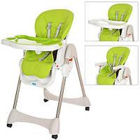 Детский складной стульчик для кормления Bambi M 3216-2-5 салатово-зеленый, фото 1