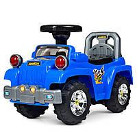 Детская каталка-толокар Bambi HZ 553-4 Джип синий