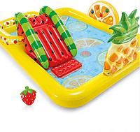 Детский надувной игровой центр с горкой Intex 57158 (244 x 191 x 91 см) Веселый Фрукт