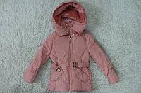 Демисезонная куртка ( Синтепон- мех) 4,8 лет.Польша цвет бежевый,черный