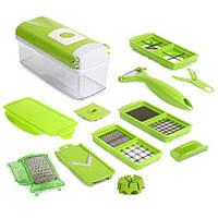 Многофункциональная овощерезка Nicer Dicer Plus Зеленая (FL-143) КОД: FL-143