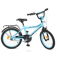 Детский велосипед колеса 20 дюймов PROFI Top Grade Y20104 стальная рама бирюзовый