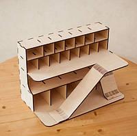 Деревянный гараж для машинок