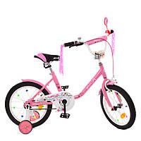 Велосипед детский двухколесный PROFI Y1881 Flower 18 дюймов розовый, фото 1