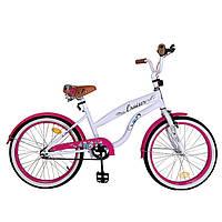 Велосипед детский двухколесный CRUISER 20 дюймов T-22034 розовый