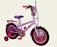 Детский двухколесный велосипед колеса 16 дюймов 191602 Дисней София Прекрасная со звонком фиолетовый