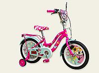 Детский двухколесный велосипед колеса 16 дюймов 191604 Дисней Минни Маус со звонком малиновый