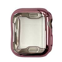 Чехол-накладка DK Silicone Color Face Case для Apple Watch 44mm (rose gold)