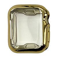 Чехол-накладка DK Silicone Color Face Case для Apple Watch 44mm (gold)