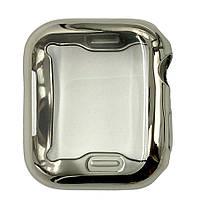 Чехол-накладка DK Silicone Color Face Case для Apple Watch 44mm (silver)