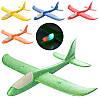 Самолет планер метательный Y8551-49 пенопластовый размер 48-48 см, свет