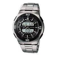 Мужские часы Casio AQ-164WD-1AVDF + ПОДАРОК: Наушники для Apple iPhone 5 -- БЕЛЫЕ MDR IP