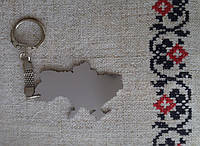 "Брелок ""України"", метал, розмір брелка: 4х6 см., колір метал, нержавіюча сталь"