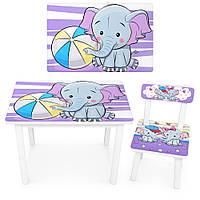 Детский стол со стульчиком Bambi BSM2K-05 Слоник, фото 1