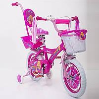 """Велосипед для девочек с родительской ручкой """"BEAUTY-1"""" 19ВВ02-14"""