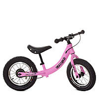Беговел PROFI KIDS детский 12 дюймов M 5450A-4 розовый