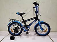 Двухколесный детский велосипед PROFI 14 дюймов SY1453 Inspirer черно-синий