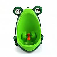 Детский тренировочный писсуар-горшок PottyFrog для мальчиков в виде Жабки Зеленый  КОД: PF-01