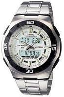 Мужские часы Casio AQ-164WD-7AVDF + ПОДАРОК: Наушники для Apple iPhone 5 -- БЕЛЫЕ MDR IP