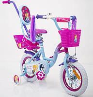 """Велосипед для девочек с родительской ручкой """"PRINCESS-2"""" 19PS02-12"""
