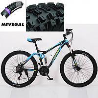 Велосипед HAMMER ACTIVE 26-A211. Синий. Диаметр колёс 26'', Сборка 85%. Алюминиевая рама 17 дюймов, фото 1