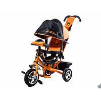 ⏩ Велосипед детский трехколесный Lamborghini LР2O  Ева колеса  с фарой и ключём зажиганием  оранжевый, фото 1