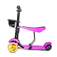 Самокат детский Scooter Smart  3 in 1 Розовый (587718821) КОД: 587718821