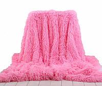 Меховое плед-покрывало Leopollo 150x200 см Розовый  КОД: 0705