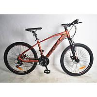Велосипед спортивный PROFI 26 дюймов G26VELOCITY A26.2 красно-черный