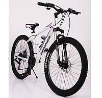 """Подростковый велосипед колеса 26 дюймов """"S200 HAMMER"""", Рама 17'' Бело-розовый, фото 1"""