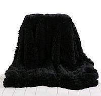 Пушистое плед-покрывало Leopollo 150х200 см Черный  КОД: 0714