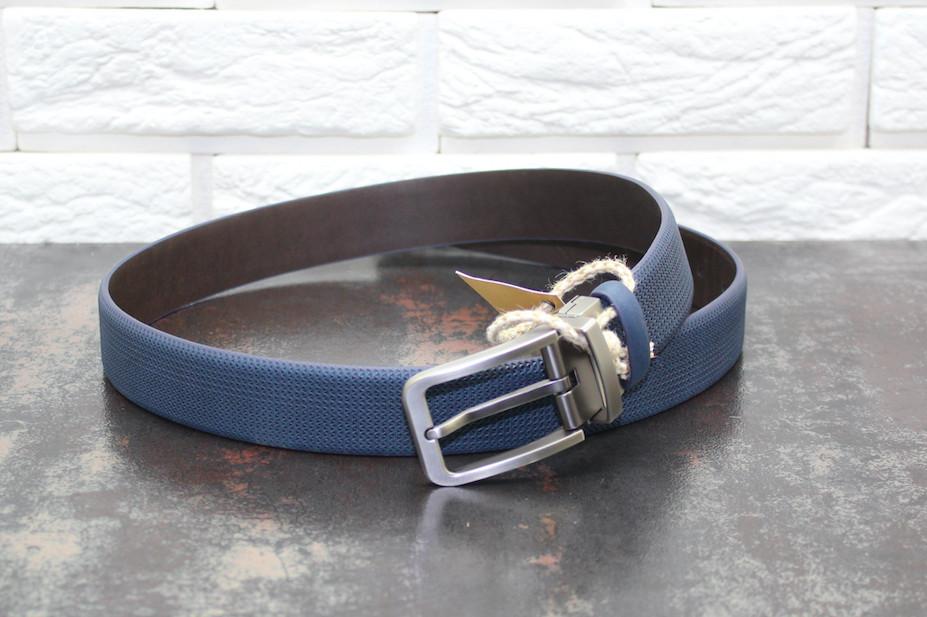 Стильный  ремень синий 3750