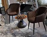 Кресло обеденное BAVARIA (Бавария) велюр коричневый Nicolas, фото 10
