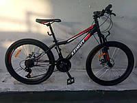 Двухколесный спортивный велосипед Аzimut Forest FR/D 26 дюймов черно-красный