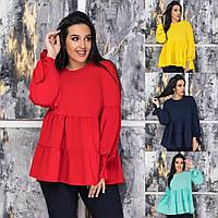 Женская стильная блузка №345 (р. 50-64) в расцветках