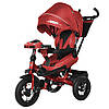 ⏩ Велосипед детский трехколесный TILLY Impulse  T-386 с пультом и усиленной красный