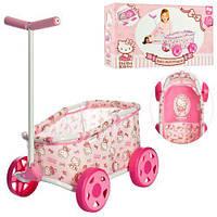 Детская кукольная коляска- тележка Hello Kitty D77282