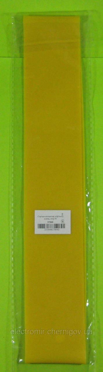 Лента для фитнеса жёлтая (сопротивление M)