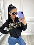 Рубашка женская делового стиля , белая, чёрная, фото 3